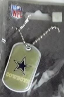 Dallas Cowboys Color NFL Dog Tag Necklace