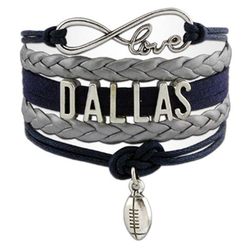 Dallas Cowboys Infinity Love NFL Bracelet