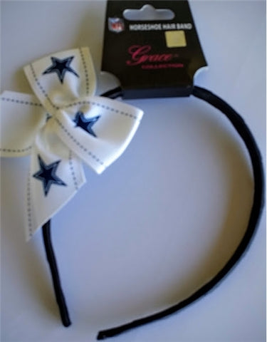 Dallas Cowboys NFL Grace Collection Bow Headband