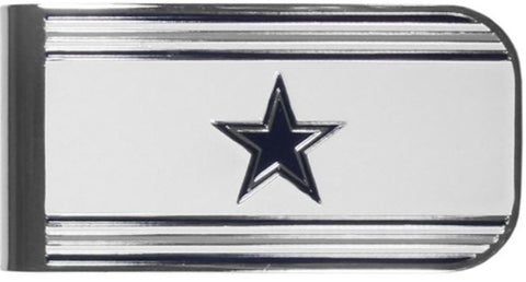 Dallas Cowboys NFL Team Color MVP Steel Money Clip