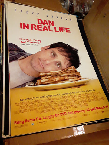 Dan in Real Life 2007 Steve Carrell Movie Poster 27x40 USED