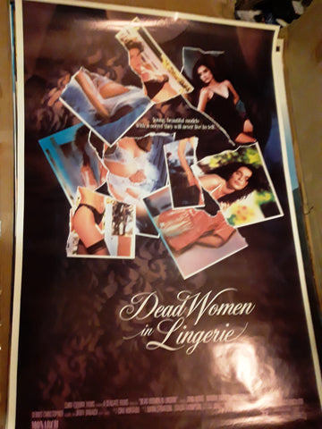 Dead Women In lingerie 1991 Movie Poster 27x40 USED