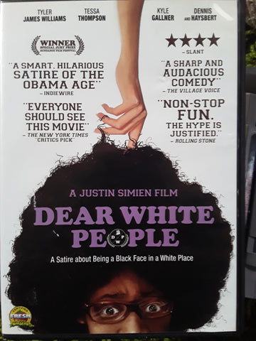 Dear White People DVD Movie 2014 Tessa Thompson Dennis Haysbert