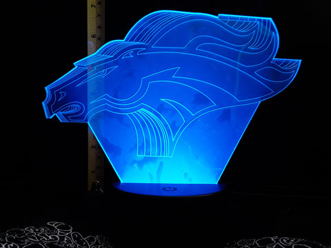 Denver Broncos Logo NFL Color-Changing LED Night Light Lamp
