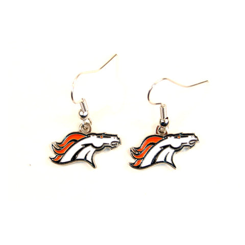 Denver Broncos NFL Dangle Earrings
