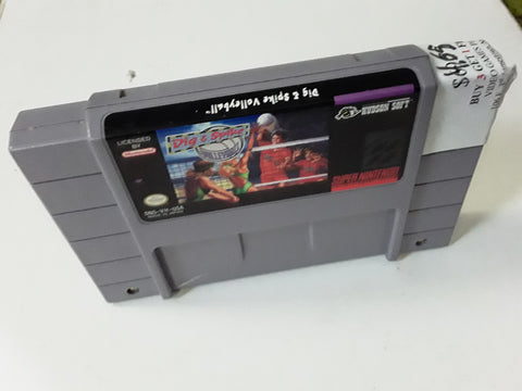 Dig and Spike Volleyball SNES Super Nintendo Video Game Cartridge