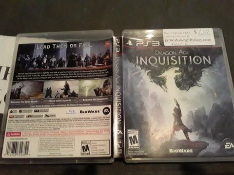 Dragon Age Inquisition Used PS3 Video Game