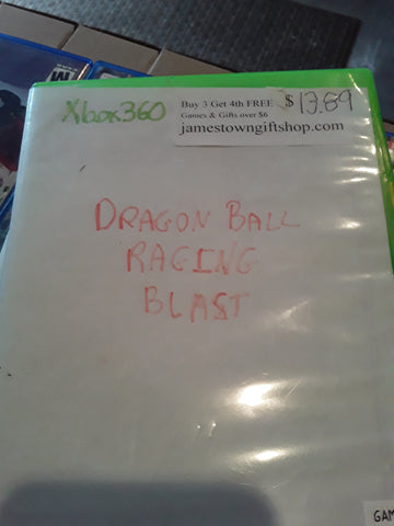 Dragon Ball Raging Blast Used Xbox 360 Video Game