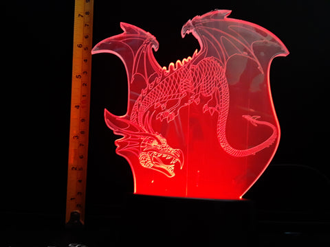 Dragon Flying Color-Changing LED Night Light Lamp