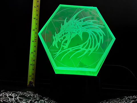 Dragon Pentagram Color-Changing LED Night Light Lamp