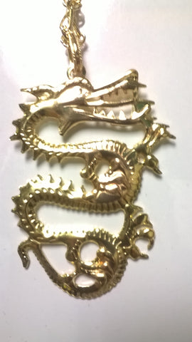 Dragon Large Gold Colored Necklace