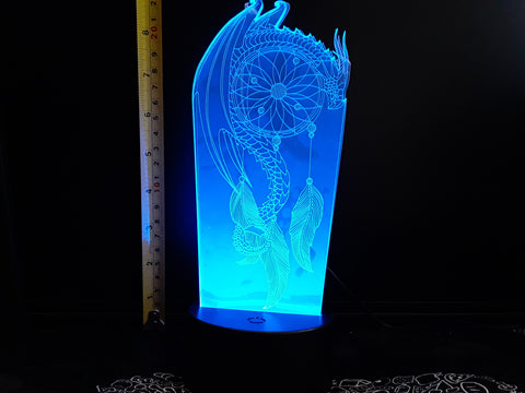 Dream Catcher Dragon Color-Changing LED Night Light Lamp