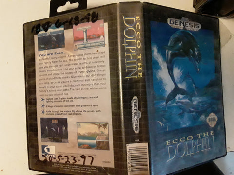 Ecco The Dolphin Used Sega Genesis Video Game
