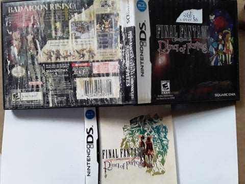 Final Fantasy Crystal Chronicles Ring of Fates Nintendo DS Used Video Game