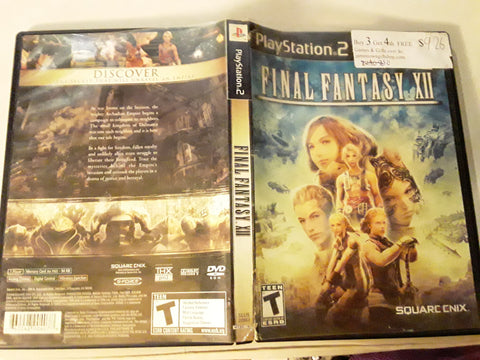Final Fantasy XII USED PS2 Video Game