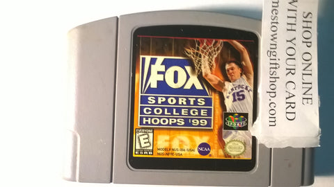 Fox Sports College Hoops 99 Basketball for N64 USED Nintendo 64 Game