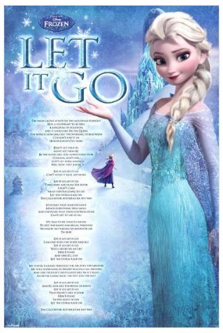 Disney Frozen Let It Go 24x36 Movie Poster
