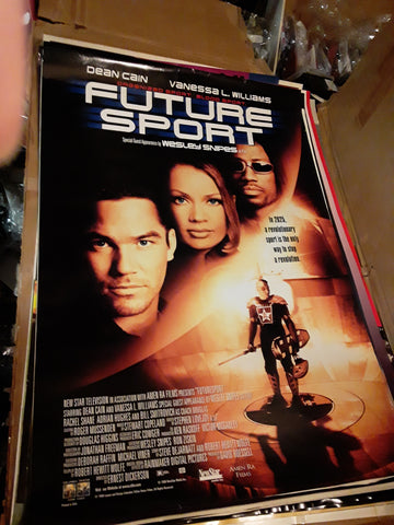 Future Sport 1999 Wesley Snipes Dead Cain Vanessa Williams Movie Poster 27x40 USED