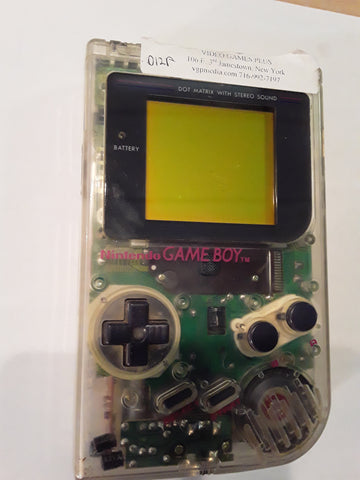 Gameboy Original High Tech Transparent Clear System