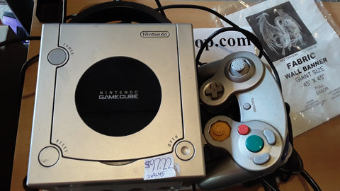 Gamecube Platinum Silver System USED FREE SHIPPING