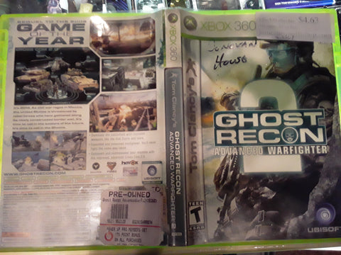 Ghost Recon 2 Advanced Warfighter Used Xbox 360 Video Game