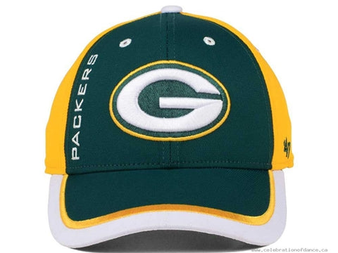 Green Bay Packers NFL Crash Line Contender Stretch Fit Hat Cap
