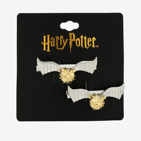 HARRY POTTER GOLDEN SNITCH 2 Inch HAIR CLIPS