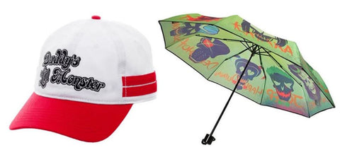 Harley Quinn 2 Item Baseball Cap & Umbrella Bundle