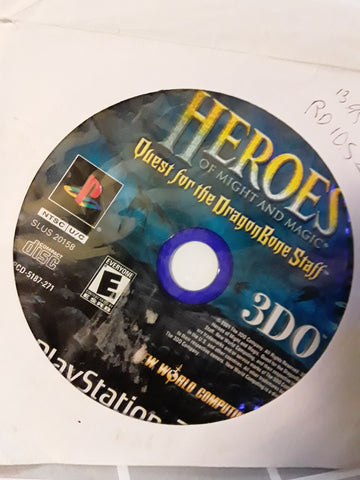 Heroes of Might and Magic Quest for the Dragon Bone Staff USED PS2 Video Game