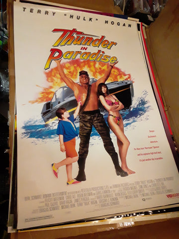 Hulk Hogan Thunder in Paradise Movie Poster 27x40 USED