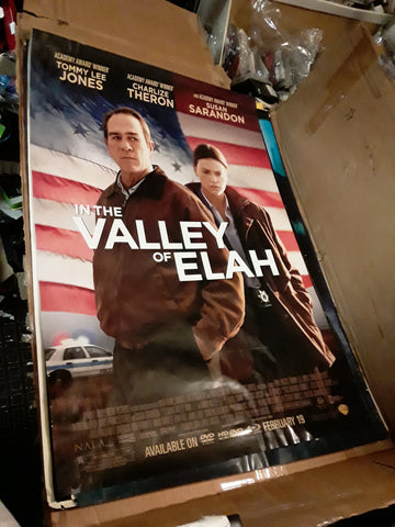In The Valley of Elah 2007 Tommy Lee Jones Charlize Theron Barry Corbin Frances Fisher James Franco Movie Poster 27x40 USED