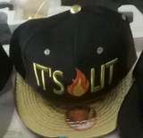 It's Lit Flat Brim Baseball Cap Hat in Various Colors