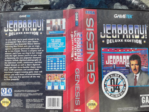 Jeopardy Deluxe Edition Used Sega Genesis Video Game