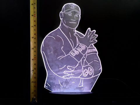 John Cena WWE Wrestling LED Night Light Lamp