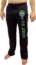 Men's DC Comics The Joker Batman Knit Graphic Sleep Lounge Pants Pajama Bottoms MEDIUM