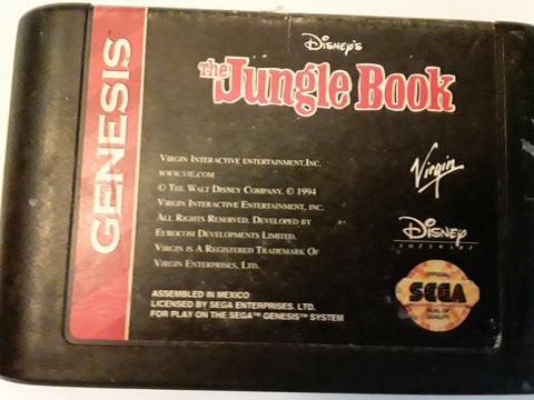 Jungle Book Disney Used Sega Genesis Video Game
