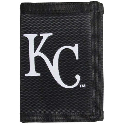 Kansas City Royals MLB Black Tri Fold Wallet