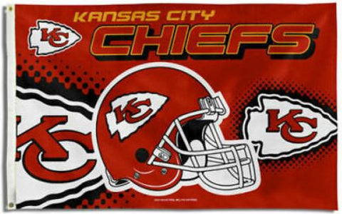 Kansas City Chiefs Logo 3x5 Foot NFL Flag