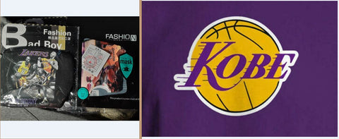 Kobe Bryant Los Angeles Lakers Flag & Mask Bundle
