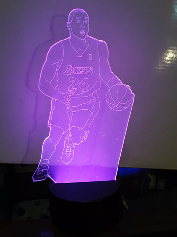 Kobe Bryant Los Angeles Lakers NBA LED Light
