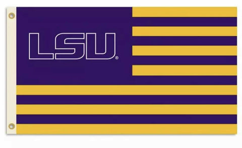 LSU Tigers NCAA 3x5 American Flag Polyester