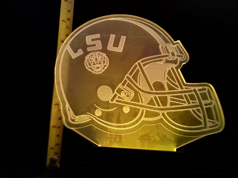 LSU Tigers Helmet NCAA Color-Changing LED Night Light Lamp
