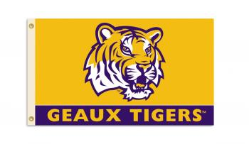 LSU Tigers NCAA 3x5 Geaux Tigers Flag