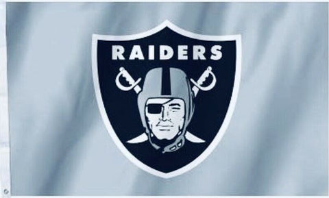 Las Vegas Raiders Silver NFL Flag 3ft x 5ft Polyester