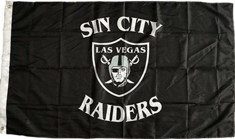 Las Vegas Sin City Raiders 3x5 Feet NFL Flag