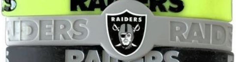 Las Vegas Raiders NFL Silicone Bracelet  Assorted Colors