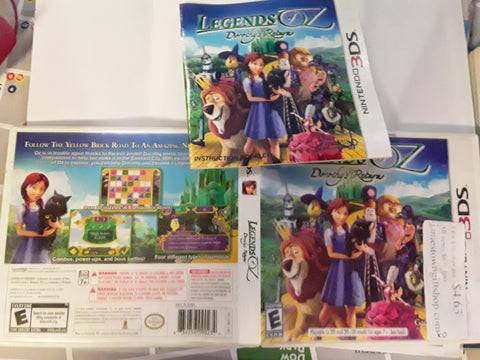 Legends of Oz Dorothy's Return Used Nintendo 3DS Video Game