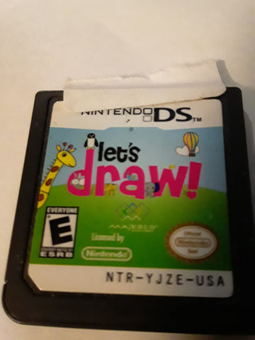 Let's Draw Used Nintendo DS Video Game Cartridge