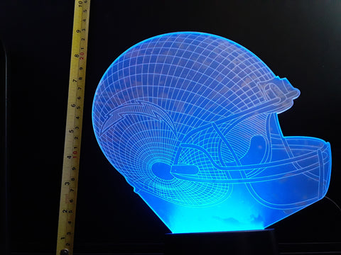 Los Angeles Chargers NFL JUMBO 9x8 inch Color-Changing LED Helmet Night Light Lamp