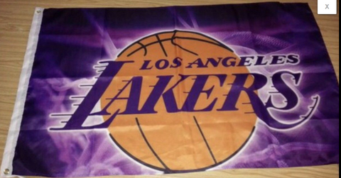 Los Angeles Lakers Purple 3x5 NBA Flag